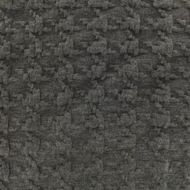 Houndstooth jersey fabric - grey x 10cm