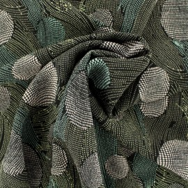 Tissu crêpe pois abstrait - pastel x 10cm