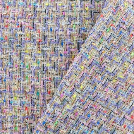 677027ea0bc Carnaval Tweed fabric - multi lavender x 10cm