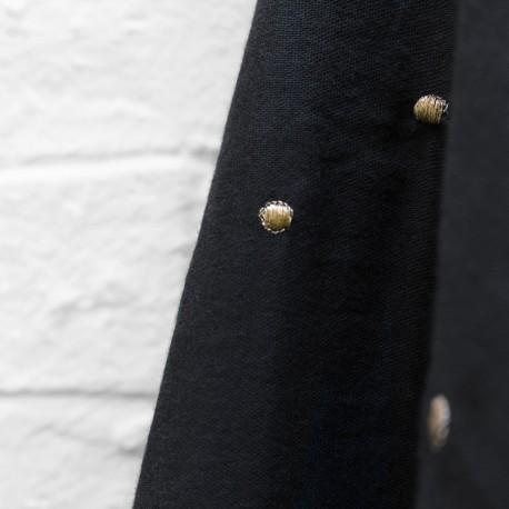 Double gauze cotton fabric Atelier brunette - Graphite Rose x 10cm