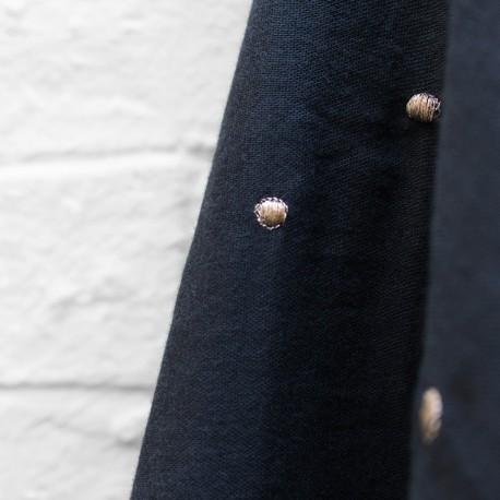 Double gauze cotton fabric Atelier brunette - Stardust Forest x 10cm