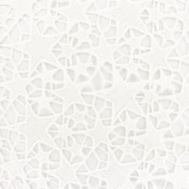 Guipure embroidery fabric stars - ecru x 10cm