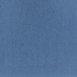 Plain fluid denim jeans fabric - liberty blue x 10cm