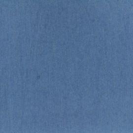 Tissu Jeans fluide uni denim - bleu liberté x 10cm