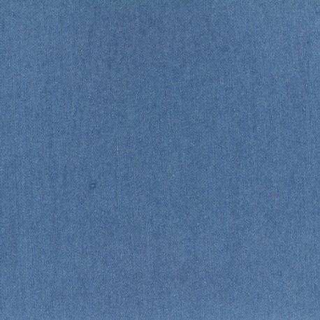 Plain fluid denim jeans fabric - liberty blue x 10cm