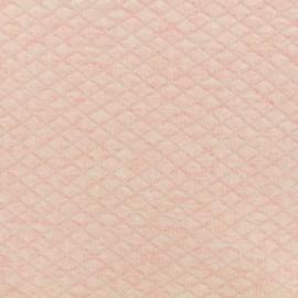 Tissu jersey matelassé losanges 10/20 - rose chiné x 10cm