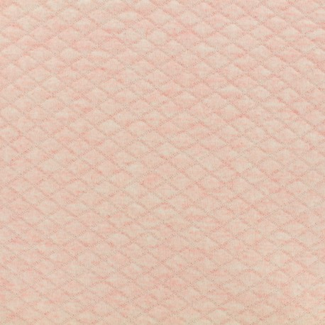 Quilted jersey fabric Diamonds 10/20 - chin pink x 10cm