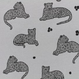Oeko-Tex panther jersey fabric - grey x 10cm