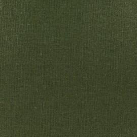 Tissu lin viscose irisé - kaki x 10cm