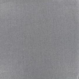 Tissu lin viscose irisé - taupe x 10cm