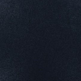Tissu lin viscose irisé - marine x 10cm