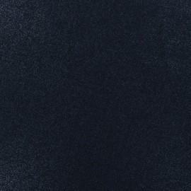 Tissu lin viscose irisé - navy x 10cm