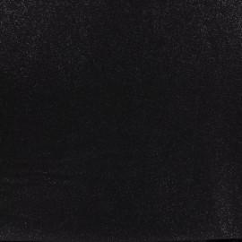 Tissu lin viscose irisé - black x 10cm
