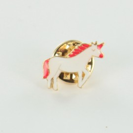Unicorn pin - white