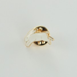 Pin's lièvre -  blanc