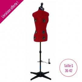 Mannequin de couture Artemis Diana A - taille S (36-42) - Rouge - Prym