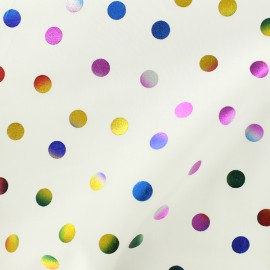Rico Design cotton fabric Confetti -  multi metalized x 10cm