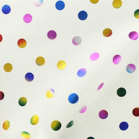 Rico Design cotton fabric Confetti -  multi metalized x 10cm