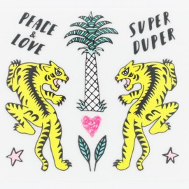 Thermocollant Rico Design Tigre et palmier