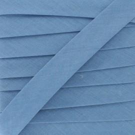 Biais tout textile bleu gris 20 mm x 1m