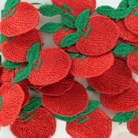 Guipure Pomme - rouge x 50cm