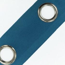 Bande à oeillets Color canon de fusil - bleu canard x 18cm