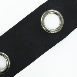 To sew color eyelet tape grun barrel - black x 18cm
