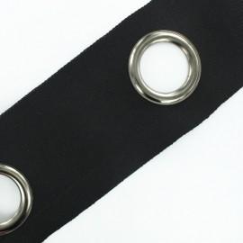 To sew color eyelet tape grun barrel - black x 18cm