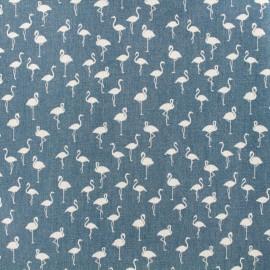 Flamingo stretch denim fabric  - washed blue x 10cm
