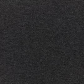 Bi face plain neoprene fabric Scuba - black grey x 10cm
