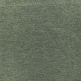 Bi face plain neoprene fabric Scuba - olive green x 10cm