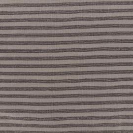 Jersey tubulaire bord-côte rayé lurex 1/1 - taupe cuivre x 10cm