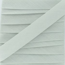 Biais Tout Textile gris argile 20 mm