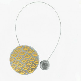 Magnetic curtain tieback Twenty - anthracite