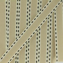 Stitched twill ribbon - black x 1m