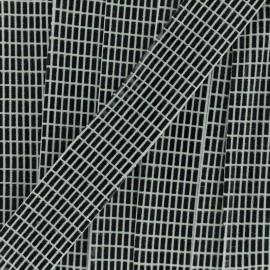 Biais fantaisie Spectacle - blanc noir x 1m