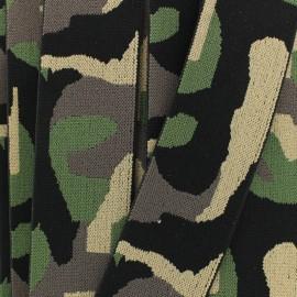 Ruban élastique camouflage  (40 mm) - forêt x 1m