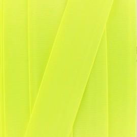 Ruban élastique satin (38 mm) - jaune fluo x 1m