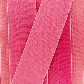 Ruban élastique satin (38 mm) - cerise clair x 1m