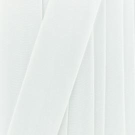 Ruban élastique satin (38 mm) - blanc optique x 1m