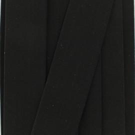 Ruban élastique satin (38 mm) - noir x 1m