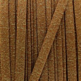 Cordon tricoté lurex - bronze x 1m