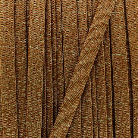 Satin elastic ribbon (38mm) - black x 1m