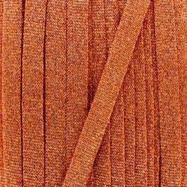 Cordon tricoté lurex (12 mm) - cuivre x 1m