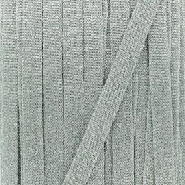 Cordon tricoté lurex (12 mm) - argent x 1m