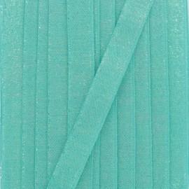 Ruban lurex sirène (15 mm) - turquoise x 1m