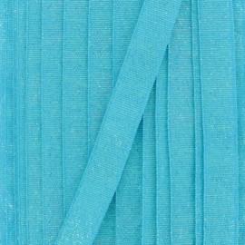Ruban lurex sirène (15 mm) - bleu x 1m