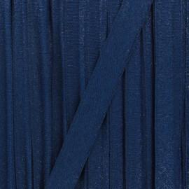 Ruban lurex sirène (15 mm) - bleu nuit x 1m
