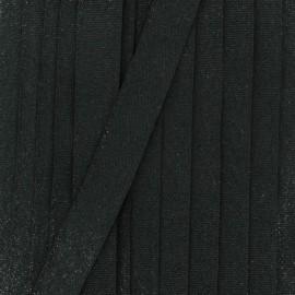 Ruban lurex sirène (15 mm) - noir x 1m