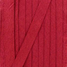 Ruban lurex sirène (15 mm) - rouge framboise x 1m